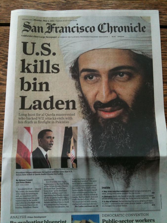 San Francisco Chronicle 2. maj 2011.