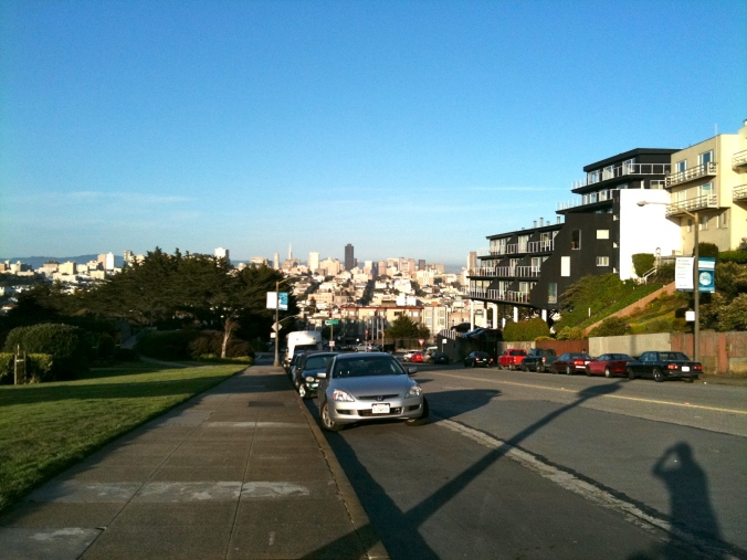 View from Euclid and Laurel, San Francisco.